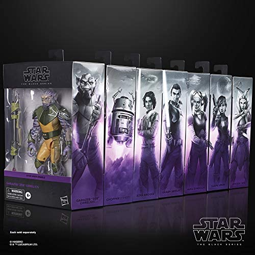 """51ll68dBrxL. AC  - Star Wars The Black Series Garazeb """"Zeb"""" Orrelios Toy 6-Inch-Scale Star Wars Rebels Collectible Deluxe Action Figure, Kids Ages 4 and Up"""