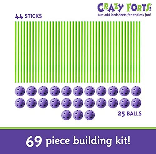51mBALCnoZL. AC  - Crazy Forts, Purple, 69 Pieces