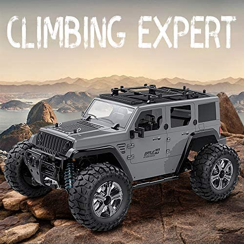 51mW1mlSH0L. AC  - Remote Control Car, 1:14 Scale RC Cars Off-Road 4WD Electric Rock Crawler Monster Vehicle Truck with Rechargeable Batteries for Boys Kids Teens and Adults