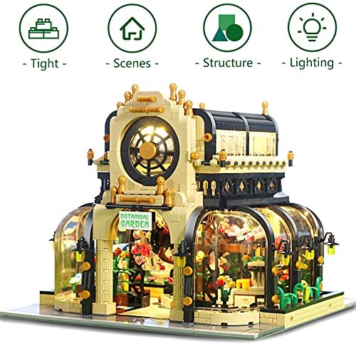 51mbS9jtBRS. AC  - Garden Tree House Set with Lighting Kit, City Creator Building Bricks Blocks for Teens and Adults, Architecture Educational Construction Toy Teen Boy Gifts Compatible with Lego (2147 Pieces)