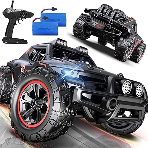 51nWMoBfqES. AC  - Remote Control Car, Uniway Scale RC Cars 4WD 30 KM/H 2.4 GHZ High Speed Racing Car for Boys and Girl 6-12 Gift, 35+ Min Play, RC Trucks 4x4 Offroad with 2 Rechargeable Batteries-Black