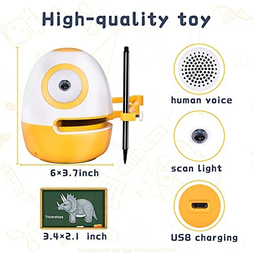 51nowZuLdWS. AC  - WEDRAW Toddler Learning Educational Toys for 3 4 5 year old kids,Interactive Talking Drawing Robot Teach Math Sight Words Preschool Kindergarten Learning Activities Toy Gift for Girls and Boys Age 3-5