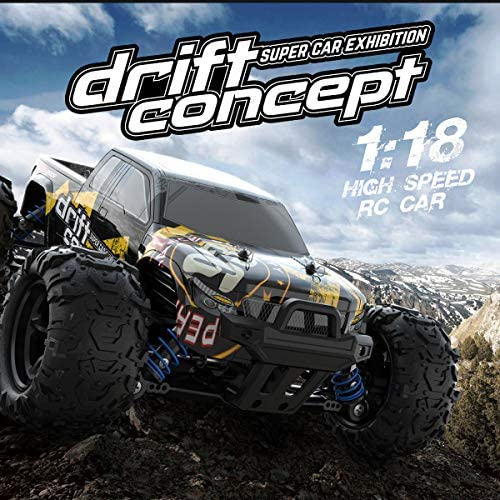 51oRLnPPrsL. AC  - SZJJX RC Cars 40+ KM/H High Speed Remote Control Car 4WD RC Monster Truck for Adults, All Terrain Off Road Toy Truck with Extra Shell 2 Batteries, 40+ Min Play Car Gifts for Kids