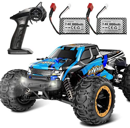51p3Soljk+L. AC  - RC Cars, Fcoreey RC Truck 1:16 Remote Control Car for Boys, 40 Km/h High Speed Racing Car, 2.4 GHz 4x4 Off Road Monster Truck, Electric Vehicle with LEDs, Hobby Car Toy Gift for Adults Kids Girl