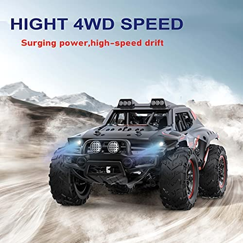 51pBnnlp1YS. AC  - Remote Control Car, Uniway Scale RC Cars 4WD 30 KM/H 2.4 GHZ High Speed Racing Car for Boys and Girl 6-12 Gift, 35+ Min Play, RC Trucks 4x4 Offroad with 2 Rechargeable Batteries-Black