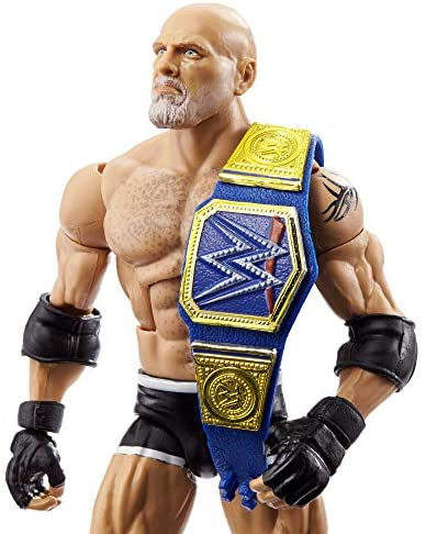 51pzPlKUr3L. AC  - WWE Wrestlemania 37 Elite Collection Goldberg Action Figure with Universal Championship and Paul Ellering and Rocco BuildAFigure Pieces6 in Posable Collectible Gift Fans