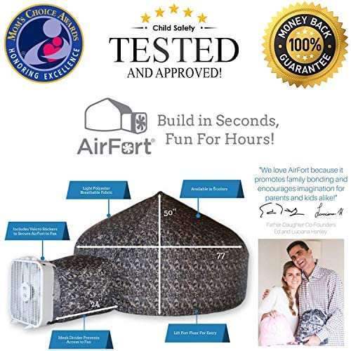 51q0sIjSsaL. AC  - The Original AirFort Build A Fort in 30 Seconds, Inflatable Fort for Kids (Starry Night)