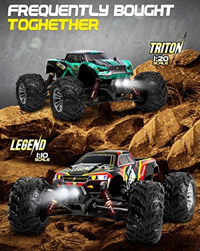 51q4wfPs3iL. AC  - 1:20 Scale RC Cars 30+ kmh High Speed - Boys Remote Control Car 4x4 Off Road Monster Truck Electric - 4WD All Terrain Waterproof Toys Trucks for Kids and Adults - 2 Batteries for 40+ Min Play Time
