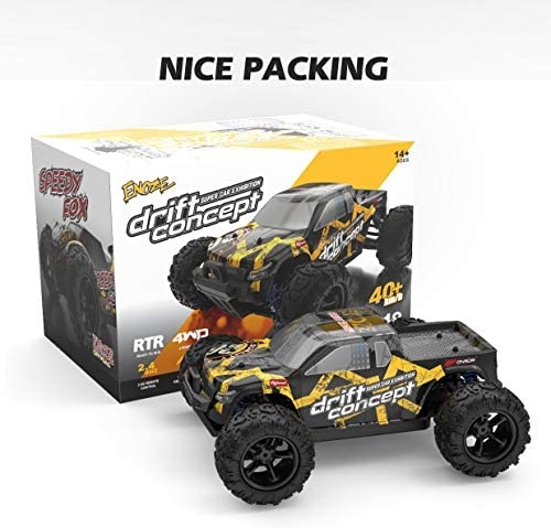 51qHiHkX6FL. AC  - SZJJX RC Cars 40+ KM/H High Speed Remote Control Car 4WD RC Monster Truck for Adults, All Terrain Off Road Toy Truck with Extra Shell 2 Batteries, 40+ Min Play Car Gifts for Kids
