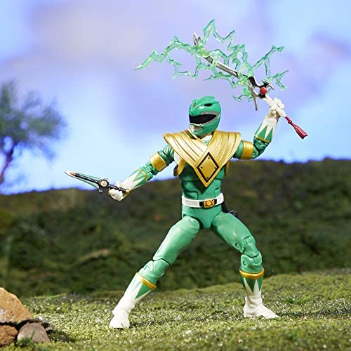 51qu1nrVr9L. AC  - Power Rangers Lightning Collection Mighty Morphin Green Ranger 6-Inch Premium Collectible Action Figure Toy with Accessories