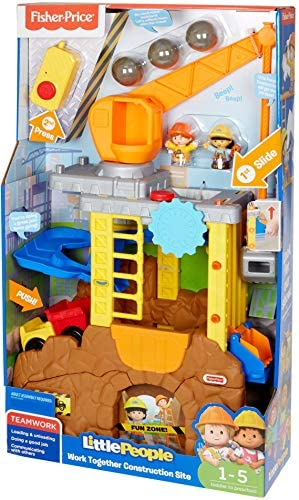 51r5 87I5aL. AC  - Fisher-Price Little People Work Together Construction Site Playset