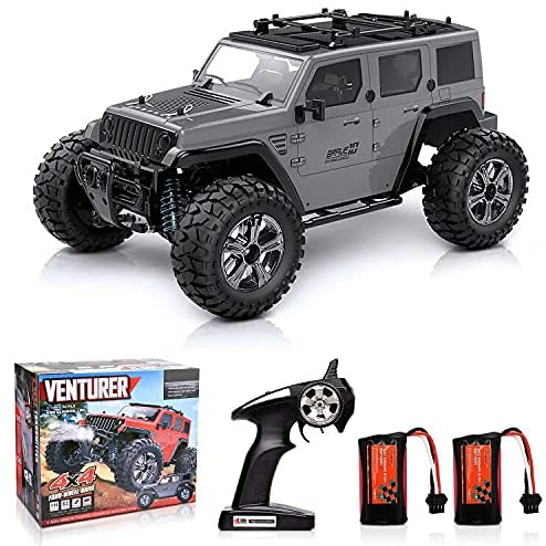 51rEKjRpDRS. AC  - Remote Control Car, 1:14 Scale RC Cars Off-Road 4WD Electric Rock Crawler Monster Vehicle Truck with Rechargeable Batteries for Boys Kids Teens and Adults