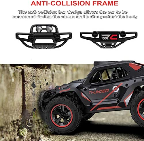 51tH4QVk6LL. AC  - Remote Control Car, Uniway Scale RC Cars 4WD 30 KM/H 2.4 GHZ High Speed Racing Car for Boys and Girl 6-12 Gift, 35+ Min Play, RC Trucks 4x4 Offroad with 2 Rechargeable Batteries-Black