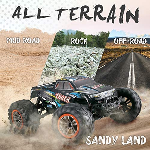 51teuwD5tLL. AC  - Hosim Large Size 1:10 Scale High Speed 46km/h 4WD 2.4Ghz Remote Control Truck 9125,Radio Controlled Off-Road RC Car Electronic Monster Truck R/C RTR Hobby Grade Cross-Country Car (Blue)