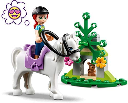 51tv+HupvLL. AC  - LEGO Friends Mia's Horse Trailer 41371 Building Kit with Mia and Emma Mini Dolls Includes Toy Truck, Horse, and Rabbit for Creative Play (216 Pieces)