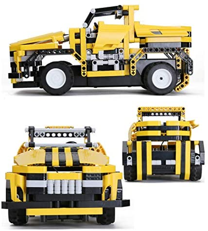 51txh4JXpoL. AC  - STEM Toys Remote Control Building Sets for Boys 8-12 | 426 Pcs RC engineering Kit Builds Off Road Car or RC Racer (2in1) STEM Building Toy Set for Kids - Ages 6 7 8 9 10 11 12 Years Old, Boy Toys Gift