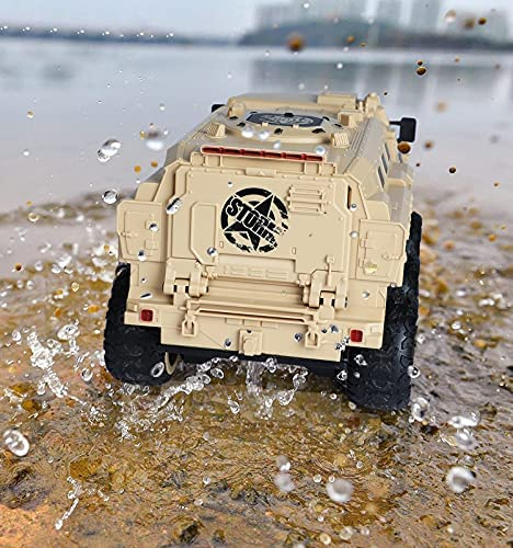 51u8Hp EACS. AC  - RC Military Truck, RC Army Trucks, 120 Min Play 6WD 1/16 Scale RC Army Car, 2.4 GHz Remote Control High Speed Army Car, All-Terrain Off-Road Military Tank RC Car Vehicle for Adults Kids, 2 Batteries