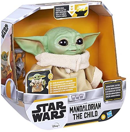 51uLGIm4TtL. AC  - Star Wars The Child Animatronic Edition 7.2-Inch-Tall Toy by Hasbro with Over 25 Sound and Motion Combinations, Toys for Kids Ages 4 and Up