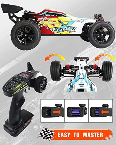 51uVpwJi3jL. AC  - RC Car 1/18 High Speed 4WD Electric Remote Control Car, 30+MPH 2.4GHz All Terrain Off-Road Rally Buggy Racing Cars Toys, with Two Rechargeable Batteries for 40+ Min Play, Gift for Boys Teens Adults