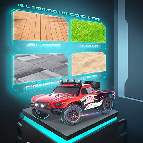 51utY00HAJL. AC  - RC Cars, 1/18 Scale High-Speed Remote Control Car for Adults Kids, 40+ kmh 4WD 2.4GHz Off-Road Monster RC Truck, All Terrain Electric Vehicle Toy Boy Gift with 2 Batteries for 40+ Min Play
