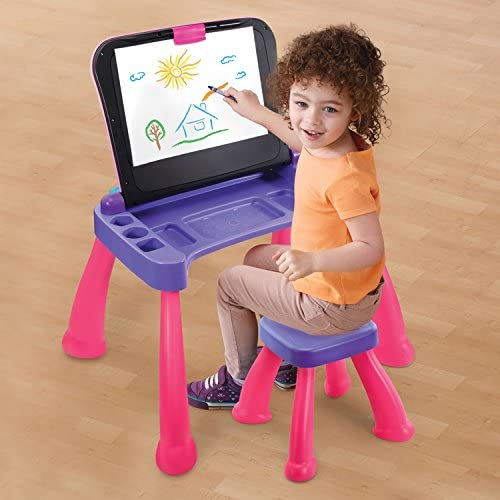 51wkLyfp7yL. AC  - VTech Touch and Learn Activity Desk Deluxe, Pink