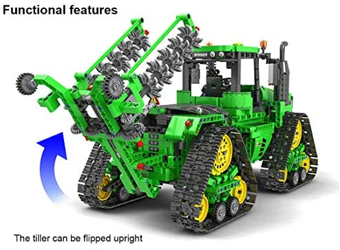 51wxgalCyFL. AC  - PHYNEDI 1:18 Simulation 2.4G Electric RC Track Tractors Vehicle Model Bricks Set Compatible with Lego, MOC DIY Assembly Small Particle Building Block Construction Toy Kit (1,706 Pieces)