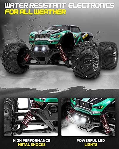51z1RnpvkyL. AC  - 1:20 Scale RC Cars 30+ kmh High Speed - Boys Remote Control Car 4x4 Off Road Monster Truck Electric - 4WD All Terrain Waterproof Toys Trucks for Kids and Adults - 2 Batteries for 40+ Min Play Time