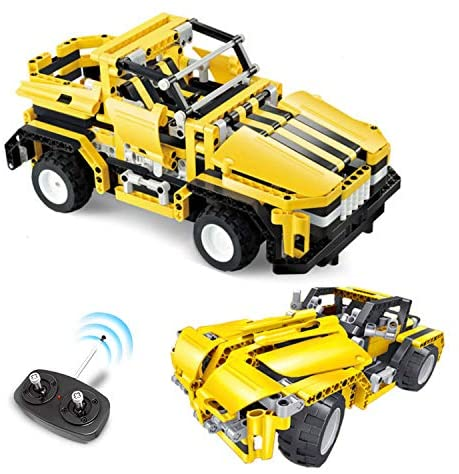 51zBY9oh5xL. AC  - STEM Toys Remote Control Building Sets for Boys 8-12 | 426 Pcs RC engineering Kit Builds Off Road Car or RC Racer (2in1) STEM Building Toy Set for Kids - Ages 6 7 8 9 10 11 12 Years Old, Boy Toys Gift