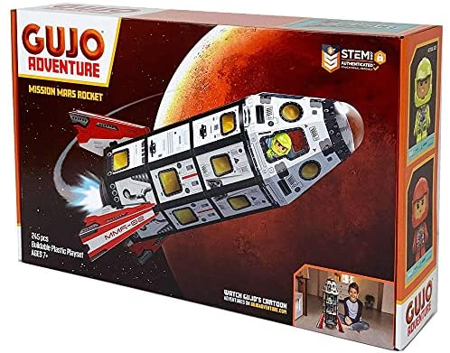 51zgPveM77S. AC  - GUJO Adventure Mars Mission Rocket, Kids STEM Building Toys Set (2.5 ft. Tall) Space Toy Rocket Ship - STEM Learning Toy for Boys & Girls Ages 7-11+ Great Gift for Kids (240+ Pieces)
