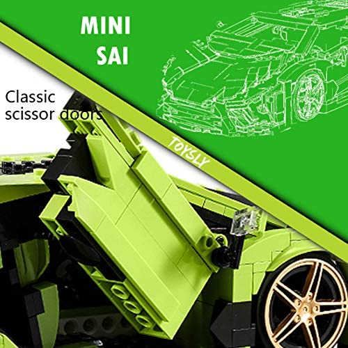 51zhXhY MHL. AC  - TOYSLY Mini SAI Sports Car MOC Building Blocks and Construction Toy, Adult Collectible Model Cars Set to Build, 1:14 Scale Sports Car Model (1133 Pcs)