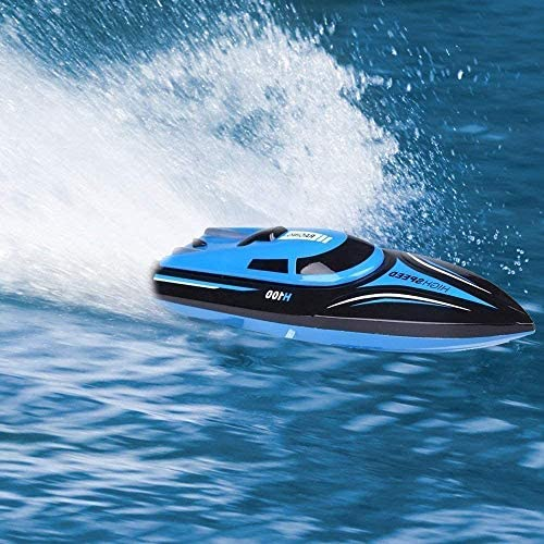 51zx5SCIIFL. AC  - DeXop Remote Control Boat Rc Boat with High Speed Radio Remote Control Electric Racing Boat for Children, Adults, Works in the bathtub at home(H100)