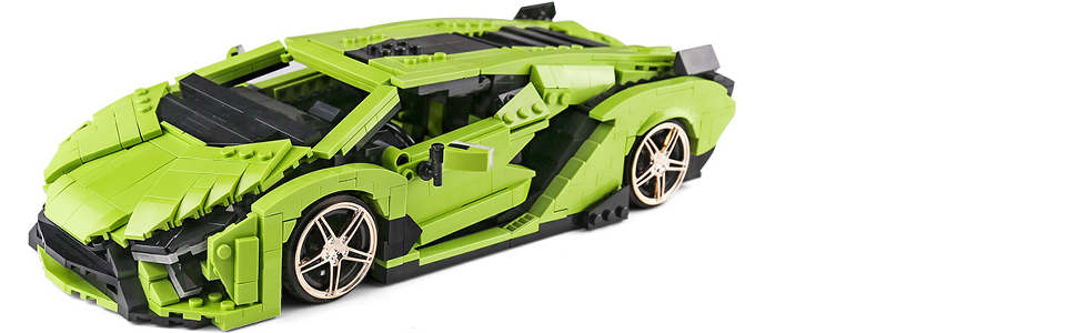 52418b0f c973 4e4b a00c 9664dc528522.  CR0,0,970,300 PT0 SX970 V1    - TOYSLY Mini SAI Sports Car MOC Building Blocks and Construction Toy, Adult Collectible Model Cars Set to Build, 1:14 Scale Sports Car Model (1133 Pcs)