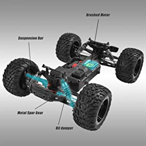 60d76c29 5077 4bc2 848e f0bd75361520.  CR0,0,2700,2700 PT0 SX300 V1    - BEZGAR 1 Hobby Grade 1:10 Scale Remote Control Truck, 4WD High Speed 48+ kmh All Terrains Electric Toy Off Road RC Monster Vehicle Car Crawler with 2 Rechargeable Batteries for Boys Kids and Adults