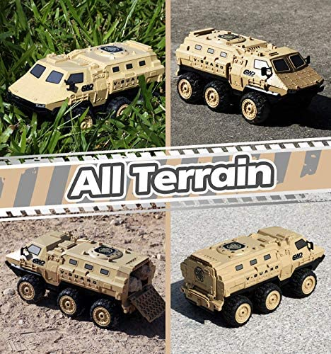 611nloo7fsL. AC  - RC Military Truck, RC Army Trucks, 120 Min Play 6WD 1/16 Scale RC Army Car, 2.4 GHz Remote Control High Speed Army Car, All-Terrain Off-Road Military Tank RC Car Vehicle for Adults Kids, 2 Batteries