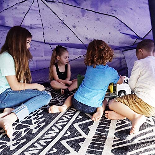 612RSfJ5zDL. AC  - The Original AirFort Build A Fort in 30 Seconds, Inflatable Fort for Kids (Starry Night)