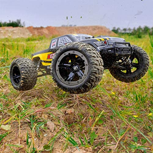 614htOizC5L. AC  - BEZGAR 1 Hobby Grade 1:10 Scale Remote Control Truck, 4WD High Speed 48+ kmh All Terrains Electric Toy Off Road RC Monster Vehicle Car Crawler with 2 Rechargeable Batteries for Boys Kids and Adults