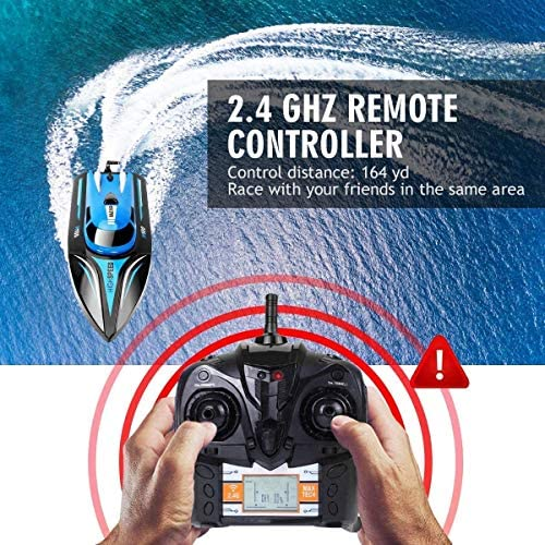 617RNlOCPML. AC  - DeXop Remote Control Boat Rc Boat with High Speed Radio Remote Control Electric Racing Boat for Children, Adults, Works in the bathtub at home(H100)