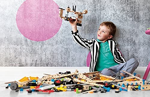 619BLMSDe3L. AC  - BRIO Builder 34587 - Builder Construction Set - 136-Piece Construction Set STEM Toy with Wood and Plastic Pieces for Kids Age 3 and Up