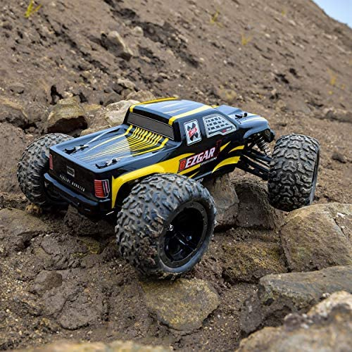 61EAGNEc rL. AC  - BEZGAR 1 Hobby Grade 1:10 Scale Remote Control Truck, 4WD High Speed 48+ kmh All Terrains Electric Toy Off Road RC Monster Vehicle Car Crawler with 2 Rechargeable Batteries for Boys Kids and Adults