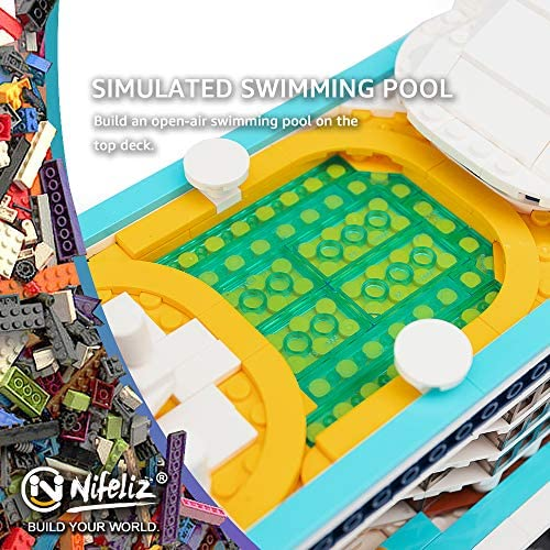 61HnnDtKo3L. AC  - Nifeliz Cruise Liner Model, Toy Boat Building Blocks Kits and Engineering Toy, Construction Set to Build, Model Set and Assembly Toy for Teens(2428 Pcs)