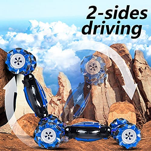 61LUdsKb9IS. AC  - RC Stunt Car,1:12 Large RC Drift Car, 4WD 2.4G Gesture Sensing Control Double Sided Rotating Remote Control Car, 360° Flips Twisted Off Road RC Car with 2 Batteries, KB KAIBO Crawler RC Cars for Boys