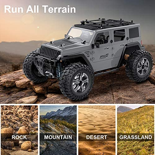 61N+77jRhXL. AC  - Remote Control Car, 1:14 Scale RC Cars Off-Road 4WD Electric Rock Crawler Monster Vehicle Truck with Rechargeable Batteries for Boys Kids Teens and Adults