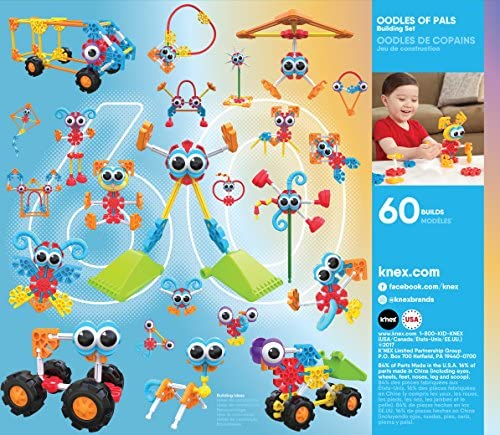 61NHsAWDe7L. AC  - KID K'NEX – Oodles of Pals Building Set – 116 Pieces – Ages 3 and Up Preschool Educational Toy (Amazon Exclusive)