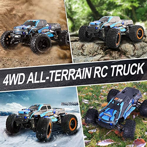 61YC3PvtEsL. AC  - RC Cars, Fcoreey RC Truck 1:16 Remote Control Car for Boys, 40 Km/h High Speed Racing Car, 2.4 GHz 4x4 Off Road Monster Truck, Electric Vehicle with LEDs, Hobby Car Toy Gift for Adults Kids Girl