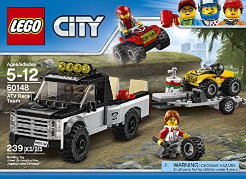 61YN1Tjv0ML. AC  - LEGO City ATV Race Team 60148 Building Kit with Toy Truck and Race Car Toys (239 Pieces) (Discontinued by Manufacturer)