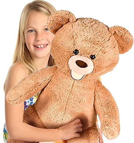 61aUh3E2qJL. AC  - ArtCreativity 4 Feet Giant Teddy Bear - Extra Plush and Soft Toy - Jumbo Large Stuffed Animal for Kids and Adults - Huge Plush Bear - Great Gift Idea for Boys and Girls - Gigantic Carnival Prize