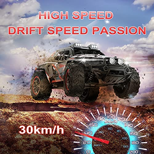 61fZQc8NWDS. AC  - Remote Control Car, Uniway Scale RC Cars 4WD 30 KM/H 2.4 GHZ High Speed Racing Car for Boys and Girl 6-12 Gift, 35+ Min Play, RC Trucks 4x4 Offroad with 2 Rechargeable Batteries-Black