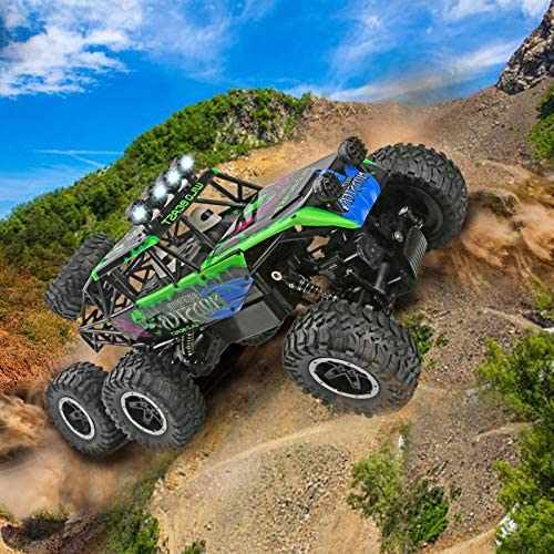 61iCIaQAryL. AC  - Remote Control Car 1:12 Scale 6WD High Speed 15 Km/h All Terrain Off Road RC Monster Truck Crawler Electric Vehicle Toy with Rechargeable Battery and Light for Kids Boys Gift (Green)