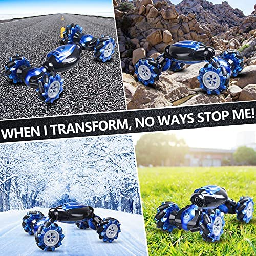 61ogYD6VYKS. AC  - RC Stunt Car,1:12 Large RC Drift Car, 4WD 2.4G Gesture Sensing Control Double Sided Rotating Remote Control Car, 360° Flips Twisted Off Road RC Car with 2 Batteries, KB KAIBO Crawler RC Cars for Boys