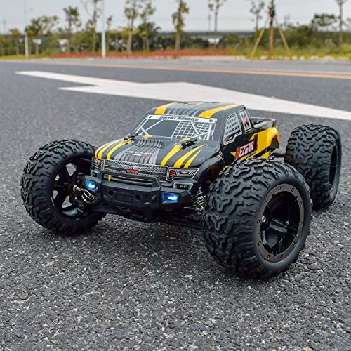 61rYLQGHSTL. AC  - BEZGAR 1 Hobby Grade 1:10 Scale Remote Control Truck, 4WD High Speed 48+ kmh All Terrains Electric Toy Off Road RC Monster Vehicle Car Crawler with 2 Rechargeable Batteries for Boys Kids and Adults